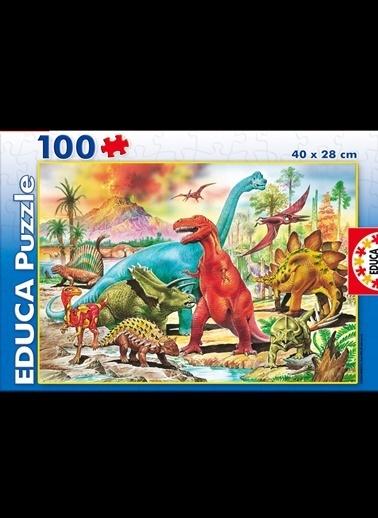 Educa Educa Çocuk Puzzle Karton 100 Dinozorlar Renkli